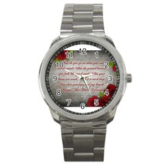 Maggie s Quote Sport Metal Watch