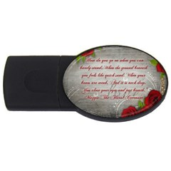 Maggie s Quote 4GB USB Flash Drive (Oval)