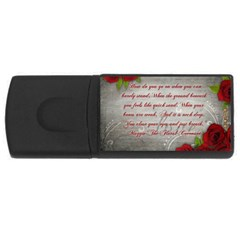 Maggie s Quote 4gb Usb Flash Drive (rectangle)