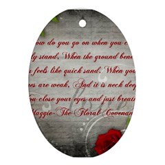 Maggie s Quote Oval Ornament (Two Sides)