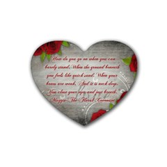 Maggie s Quote Drink Coasters 4 Pack (heart)