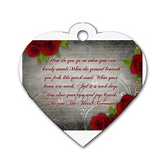 Maggie s Quote Dog Tag Heart (Two Sided)