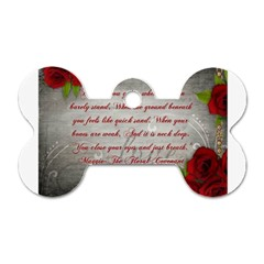 Maggie s Quote Dog Tag Bone (Two Sided)