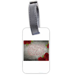 Maggie s Quote Luggage Tag (One Side)