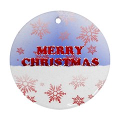 Christmas Time Round Ornament (Two Sides)