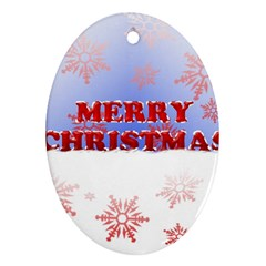 Christmas Time Oval Ornament (Two Sides)