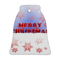 Christmas Time Bell Ornament (Two Sides)