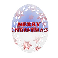 Christmas Time Oval Filigree Ornament (Two Sides)