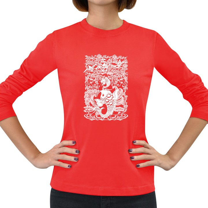 Form Of Auspiciousness Womens' Long Sleeve T-shirt (Dark Colored)