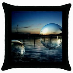 Magic Balls Black Throw Pillow Case