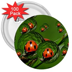 Ladybird 3  Button (100 pack)
