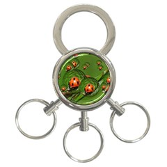 Ladybird 3-Ring Key Chain