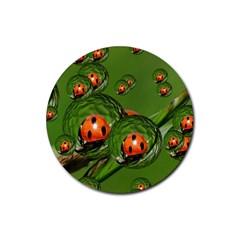 Ladybird Drink Coaster (Round)