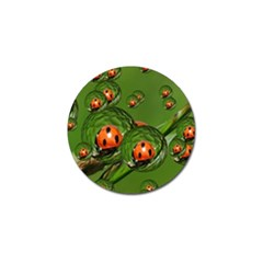 Ladybird Golf Ball Marker 4 Pack