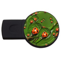 Ladybird 2GB USB Flash Drive (Round)
