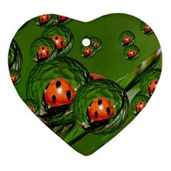 Ladybird Heart Ornament (two Sides)
