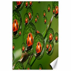 Ladybird Canvas 24  X 36  (unframed)