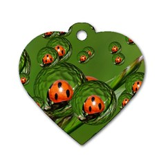 Ladybird Dog Tag Heart (Two Sided)