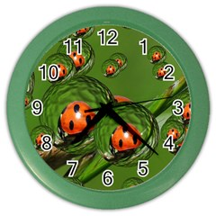 Ladybird Wall Clock (color)