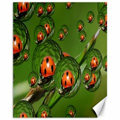 Ladybird Canvas 11  x 14  (Unframed)