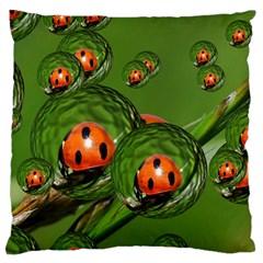Ladybird Large Cushion Case (Single Sided)