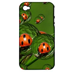 Ladybird Apple iPhone 4/4S Hardshell Case (PC+Silicone)