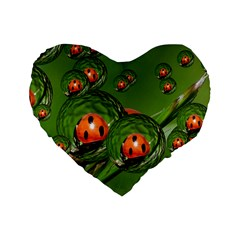 Ladybird 16  Premium Heart Shape Cushion
