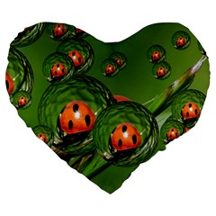 Ladybird 19  Premium Heart Shape Cushion