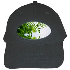 Leafs With Waterreflection Black Baseball Cap