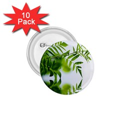 Leafs With Waterreflection 1 75  Button (10 Pack)