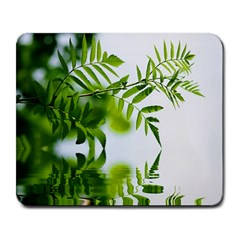 Leafs With Waterreflection Large Mouse Pad (Rectangle)