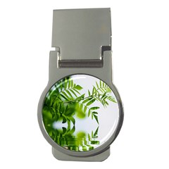 Leafs With Waterreflection Money Clip (round)