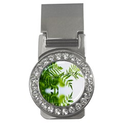 Leafs With Waterreflection Money Clip (cz)
