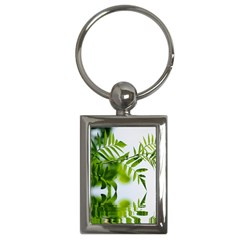 Leafs With Waterreflection Key Chain (rectangle)