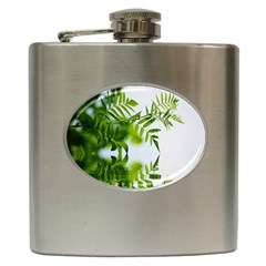 Leafs With Waterreflection Hip Flask