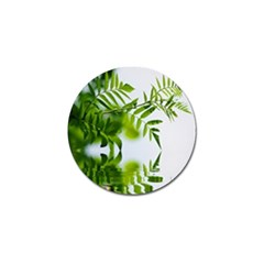 Leafs With Waterreflection Golf Ball Marker