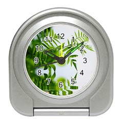 Leafs With Waterreflection Desk Alarm Clock