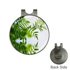 Leafs With Waterreflection Hat Clip with Golf Ball Marker