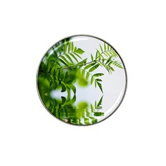 Leafs With Waterreflection Golf Ball Marker (for Hat Clip)