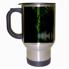 Leafs With Waterreflection Travel Mug (Silver Gray)