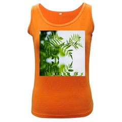 Leafs With Waterreflection Womens  Tank Top (Dark Colored)