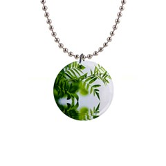Leafs With Waterreflection Button Necklace