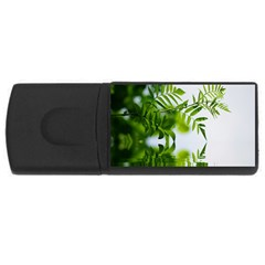 Leafs With Waterreflection 4GB USB Flash Drive (Rectangle)