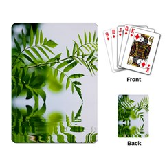 Leafs With Waterreflection Playing Cards Single Design