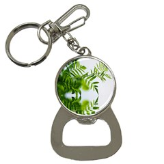 Leafs With Waterreflection Bottle Opener Key Chain