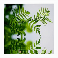Leafs With Waterreflection Glasses Cloth (Medium, Two Sided)