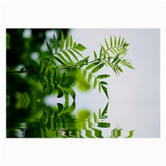 Leafs With Waterreflection Glasses Cloth (Large)