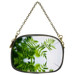 Leafs With Waterreflection Chain Purse (one Side)