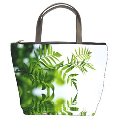 Leafs With Waterreflection Bucket Bag
