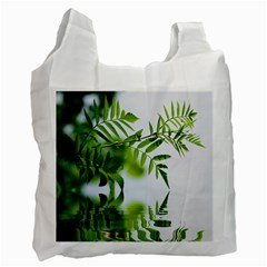 Leafs With Waterreflection Recycle Bag (one Side)